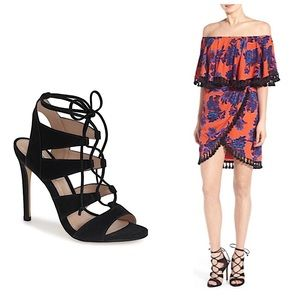 STEVE MADDEN   Sandalia Lace Cut Out Heel Shoe 6.5